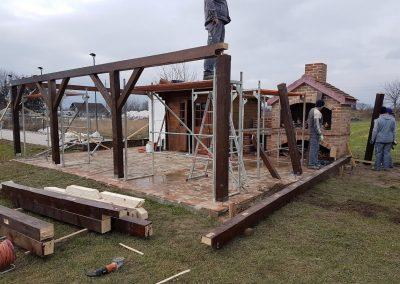 Nadstrešnica - početak izgradnje