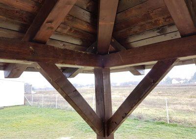 Nadstrešnica - kutna unutarnja konstrukcija